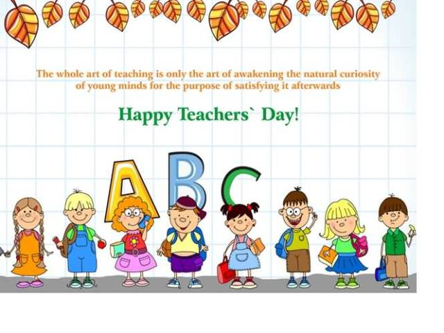 Happy World Teacher's Day Cute Wishes Image