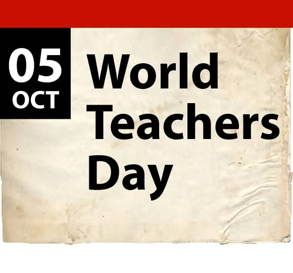 Happy World Teacher's Day Note Image