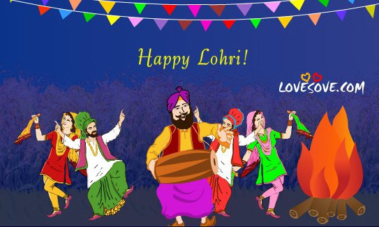Have A Wonderful Lohri Bahngra Image