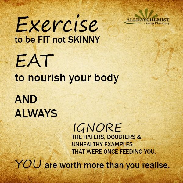 Health Quotes exercise to be fit not skinny