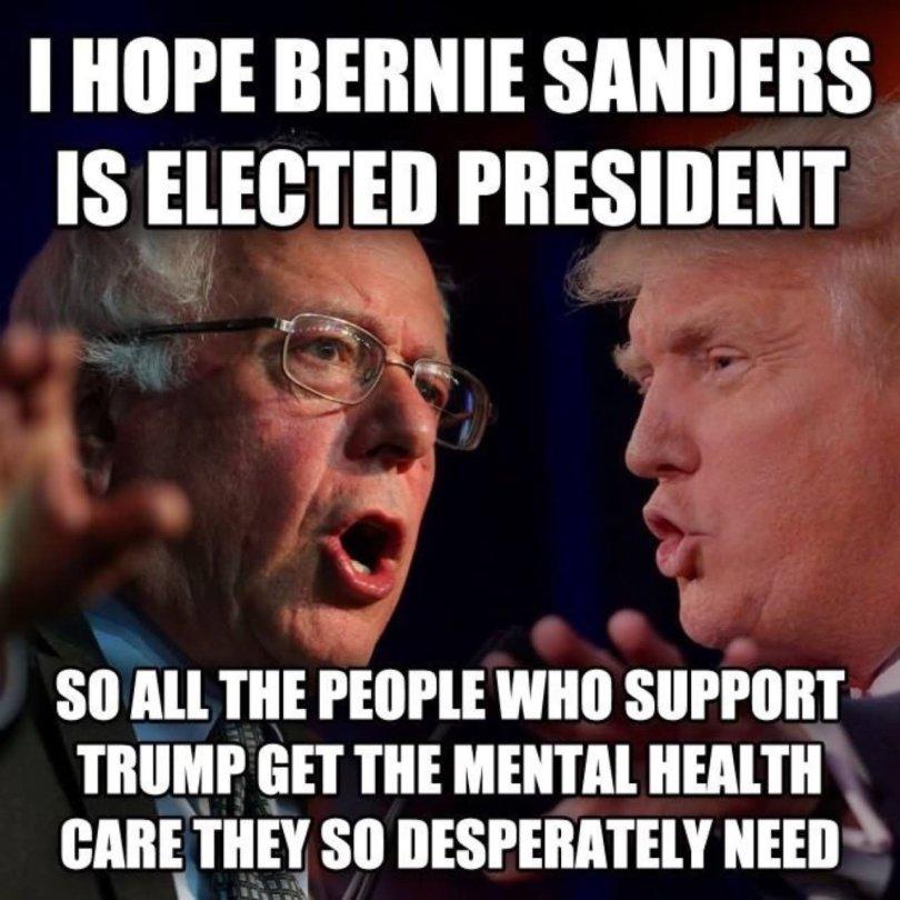 I Hope Bernie Sanders Is Elected President Donald Trump Meme Donald Trump Memes