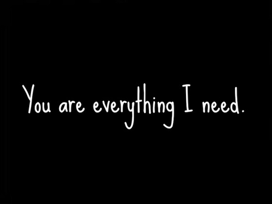 I Need You Quotes You are everything i need