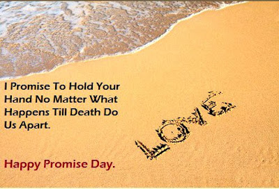 I Promise To Hold You Hand Happy Promise Day Quotes Image