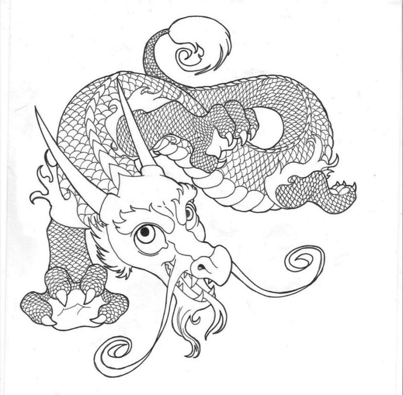 Incredible Baby Dragon Tattoo Design For Girls
