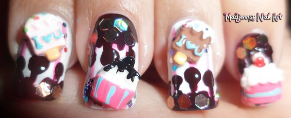 Incredible Ice Cream 3D Nail Art