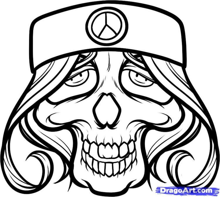 Innovative Hippie Skull Tattoo Art For Tattoo Fans