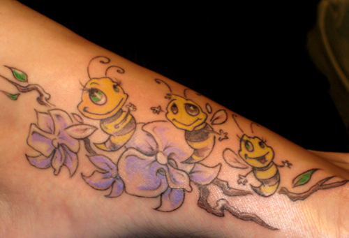 Inspirational Funny Bee Tattoo Designs For Boys