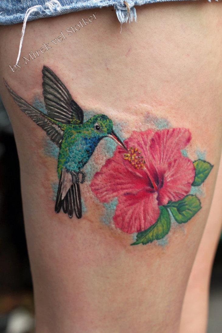 Inspirational Hibiscus Tattoo Design For Girls