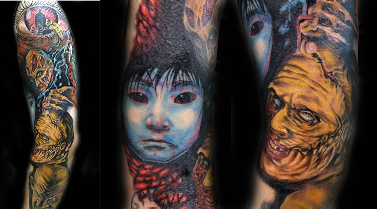 Inspirational Horror Tattoos For Boys