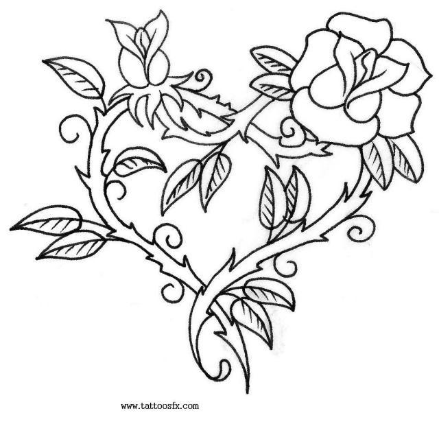 Inspirational Rose Heart Tattoo Design For Boys