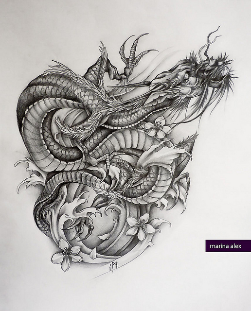 Inspiring Big Dragon Tattoo Design For Girls Dragon Tattoos