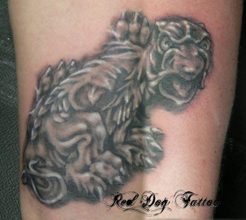 Inspiring Gargoyle Dog Tattoo Design For Boys