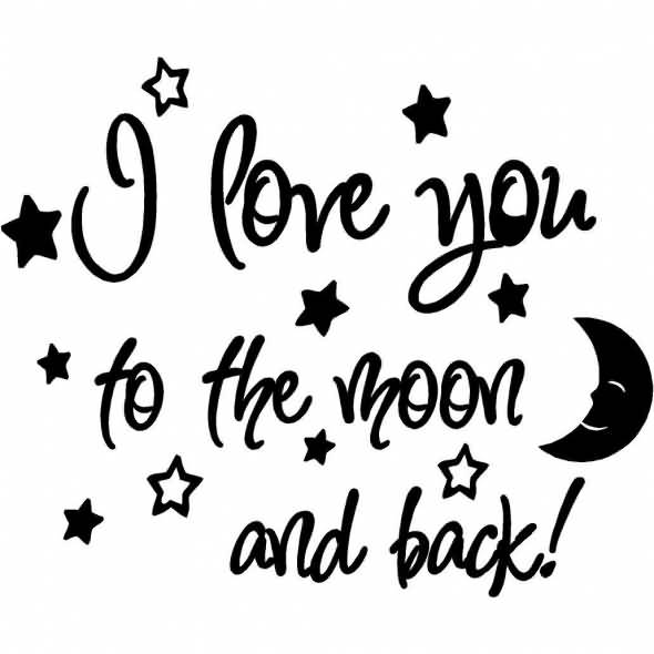Interracial Love Quotes I love you to the moon and back