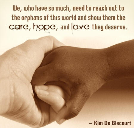 Interracial Love Quotes We who have so much need to reach out to the orphans of this world
