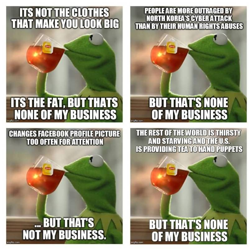 Its Not The Clothes That Makes You Look Big Its The Fat But That's None Of My Business Meme Picture