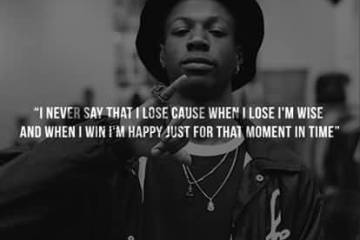 Joey Badass Quotes I never say that i lose cause when i lose i'm wise and when i win i'm happy just for that moment in time