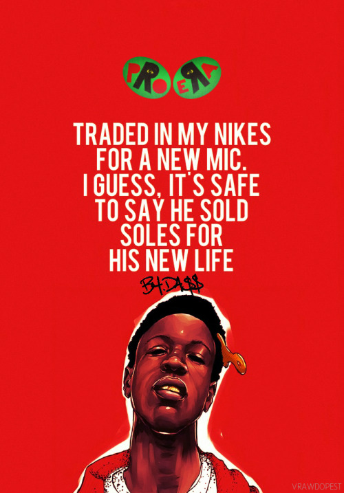 Joey Badass Quotes Traded in my nikes for a new mic i guess it's safe to say he sold
