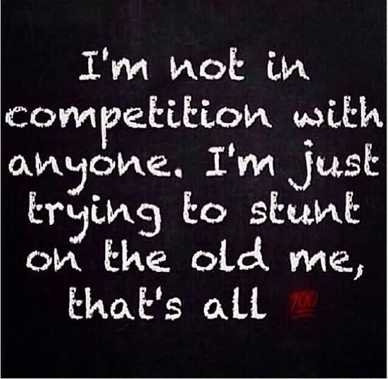 Keyshia Cole Quotes I'm not in competition with anyone i'm just trying to stunt on the old me that's all