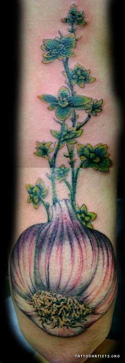 Latest Garlic n Thyme Tattoo Design For Boys