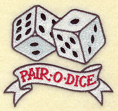 Latest Pair O Dice Tattoo Design For Boys