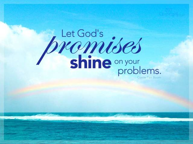 Let God's Promise Shine On Your Problems Happy Promise Day Message Image