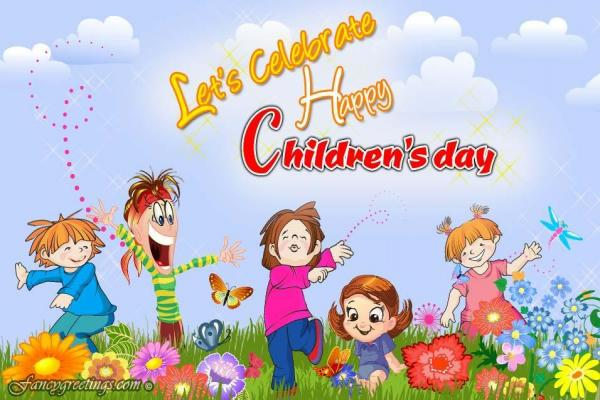 Let's Celebrate Children's Day Wishes Image