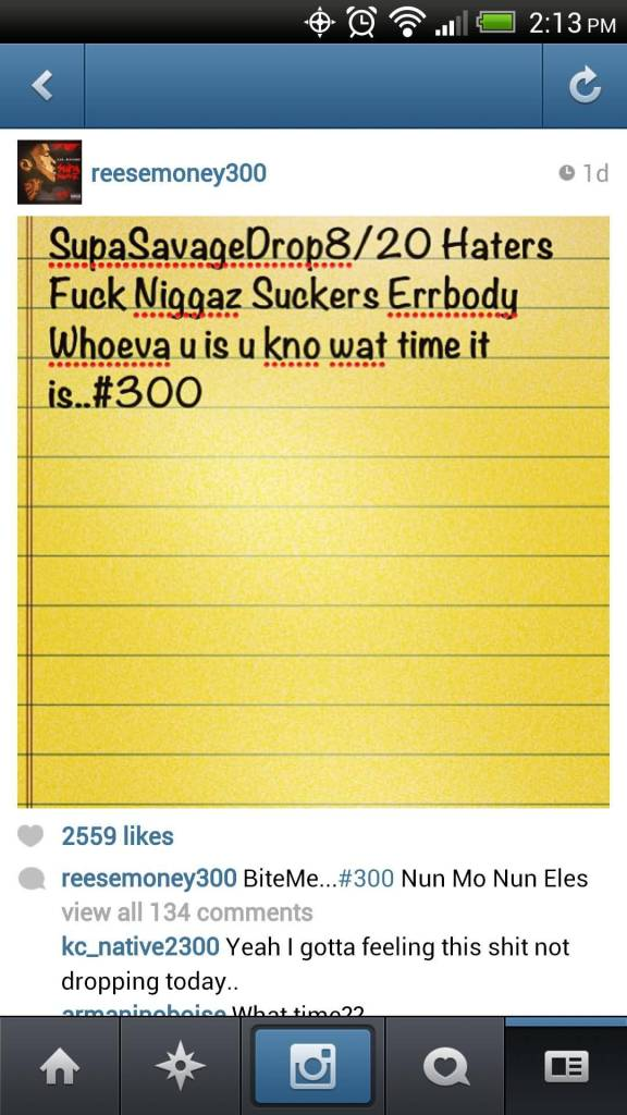 Lil Durk Quotes Supa savage drop 8 20 haters fuck niggaz suckers errbody whoeva u is u kno wat time it is #300