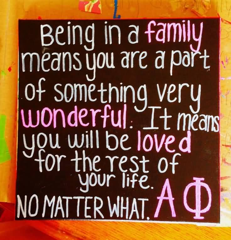 Little Big Quotes Being in a family means you are a part of something very wonderful