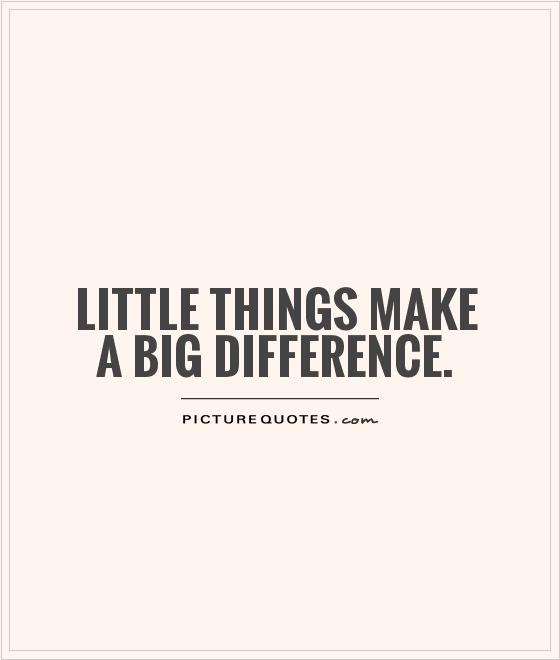 Little Big Quotes Little things make a big difference (2)