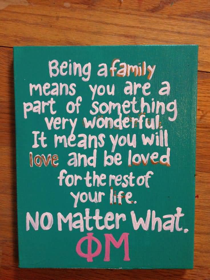 Little Big Quotes being a family means you are a part of something very wonderful