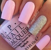 lovely baby pink nail paint
