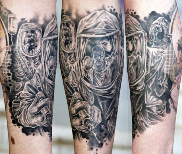 Lovely Leonidas Lonis Horror Sleeve Tattoo Design For Boys