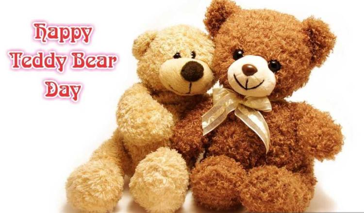 Lovely Teddy Couple Happy Teddy Day Wishes Image