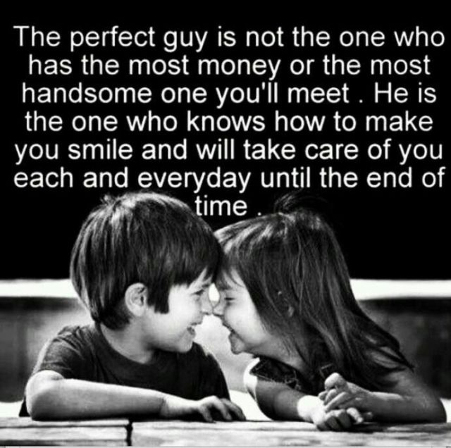 MCM Quotes The perfect guy is not the one who has the most money or the most handsome one you'll meet