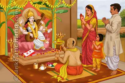 Maa Saraswati Pooja On Vasant Panchami Image