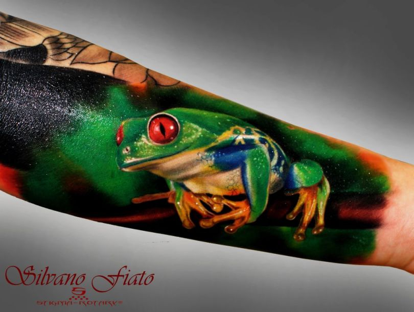 Maori Frog Tattoo On Arm For Boys