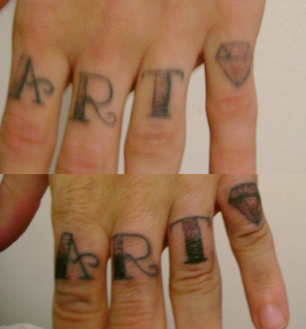 Marvel Finger Tattoo Picture For Girls