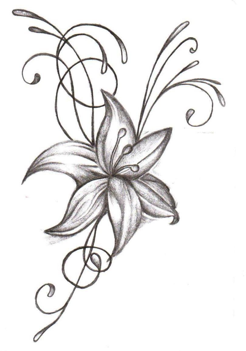 Marvel Floral Tattoo Sample For Girls