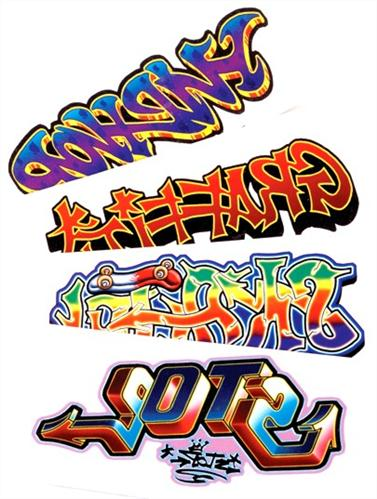 Marvel Graffiti Tattoo Samples For Boys