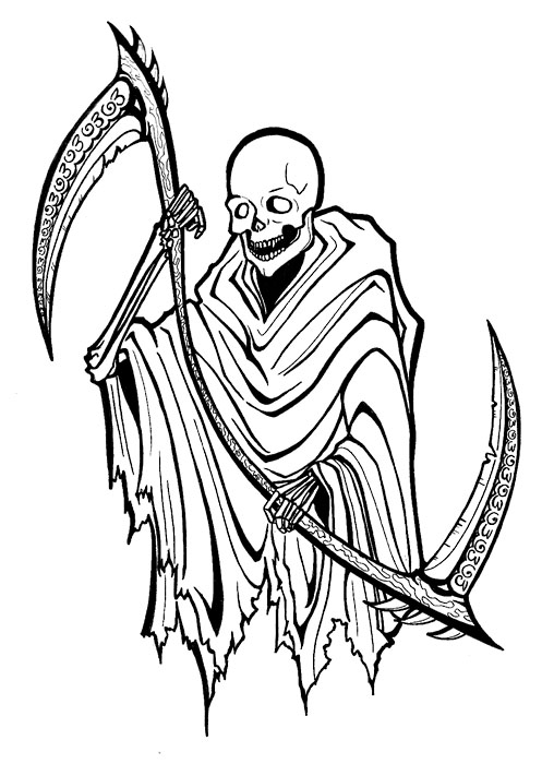 Marvel Grim Reaper Tattoo Style For Boys