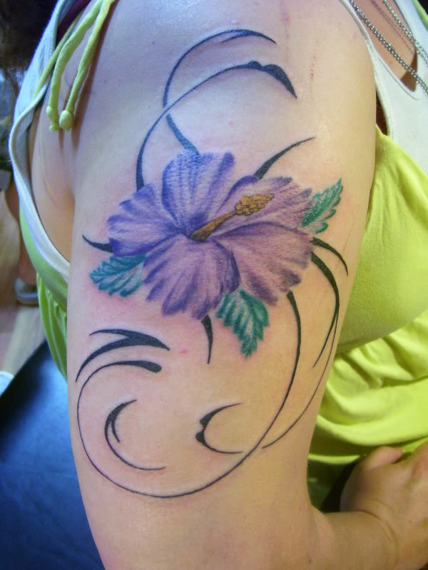 Marvel Tribal Flower Tattoo For Women On Shoulder For Girls