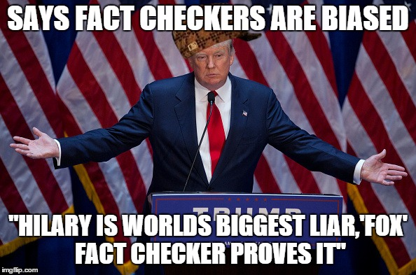 Meme Says Fact Checkers Are Biased Hilary Is Worlds Biggest Liar Picture