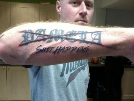 Mind Blowing Funny Arm Tattoo Design For Boys