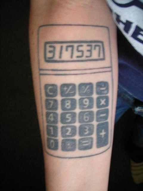 Mind Blowing Geek Tattoo Design For Boys