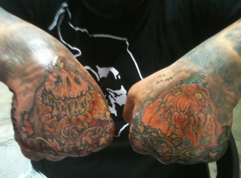 Mind Blowing Halloween Hand Tattoo Designs For Boys