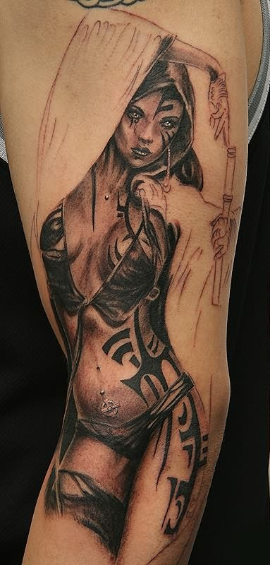 Most Beautiful Gangster Tattoo Design For Boys