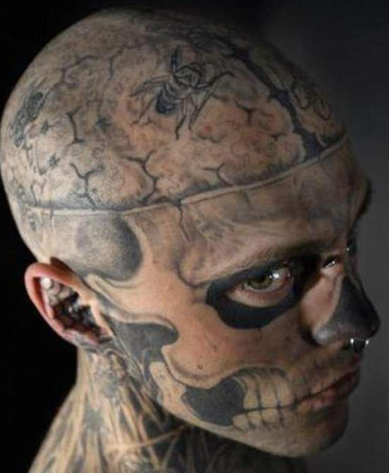 Most Beautiful Worst Extreme Tattoo On Face For Boys