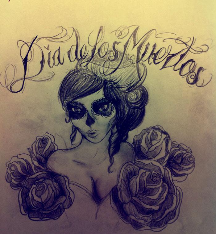 Motivational Dia De Los Muertos Girl Tattoo Poster For Boys
