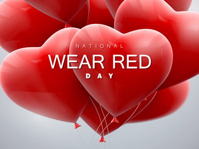 National Wear Red Day Balloons Celebrations Images