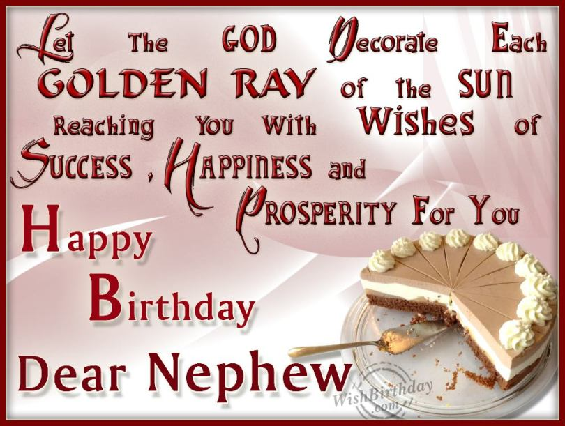 Nephew Quotes Let The God Decorate Each Golden Ray Of The Sun Reaching You With Wishes Of Success